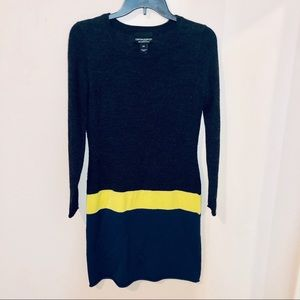 CYNTHIA ROWLEY stripe sweater dress